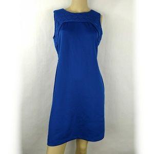 DONNA RICCO New York sheath blue cocktail dress 8